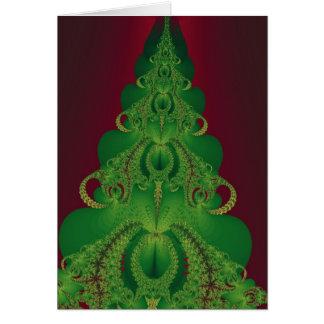 Boas festas cartão da árvore