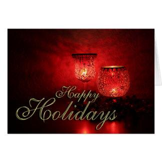 Boas festas cartão de Tag do presente