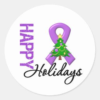 Boas festas consciência do câncer de pâncreas adesivo