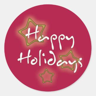 Boas festas estrelas do Natal Adesivo