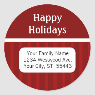 Boas festas etiqueta/etiqueta do endereço do adesivo