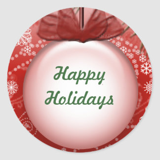 Boas festas etiquetas do Natal de Personalizable Adesivo