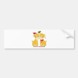 Boas festas girafas do amor adesivo para carro