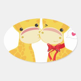 Boas festas girafas do amor adesivos