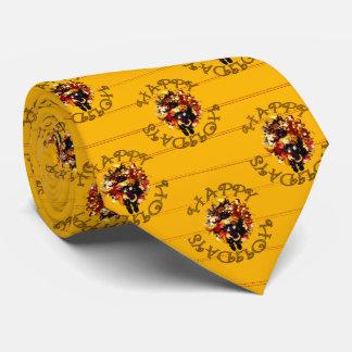 Boas festas laços do teste padrão gravata