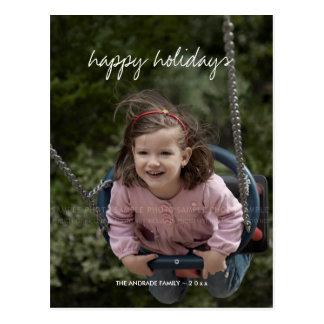 Boas festas miúdos do costume do feriado da foto cartão postal