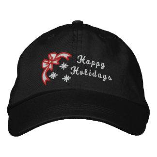 Boas festas o chapéu das mulheres bordadas Natal Bones Bordados