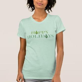 Boas festas o t-shirt das mulheres