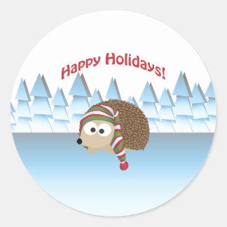 Boas festas! Ouriço do inverno Adesivo