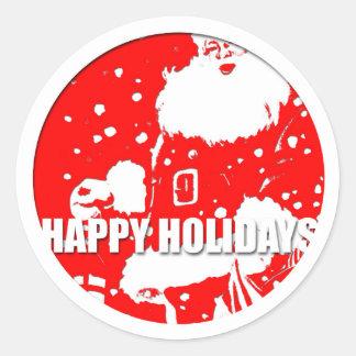 Boas festas - Papai Noel - Adesivo