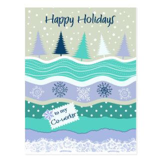 Boas festas para flocos de neve Scrapbookg do Cartão Postal