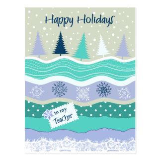 Boas festas para flocos de neve Scrapbooking do Cartão Postal