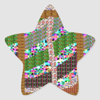 Boas festas presentes do Xmas NewYear da arte das Adesivo Estrela