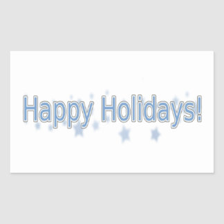 Boas festas todos! adesivo retangular