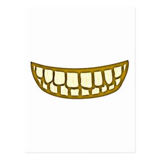 Boca dentes risos debochados mouth teeth grin cartão postal