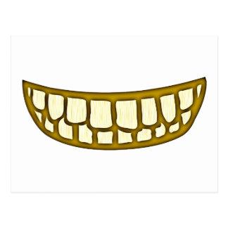 Boca dentes risos debochados mouth teeth grin cartoes postais