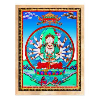 Bodhisattva tibetano legal de Cundhi do tatuagem Cartão Postal