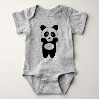 Body em jersey para bebé, Panda bebé T-shirt