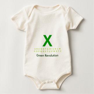 Body Para Bebê Alfabeto X verde