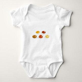 Body Para Bebê Bacias e colheres da porcelana com várias