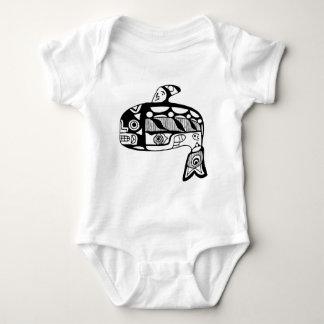 Body Para Bebê Baleia do Tlingit do nativo americano