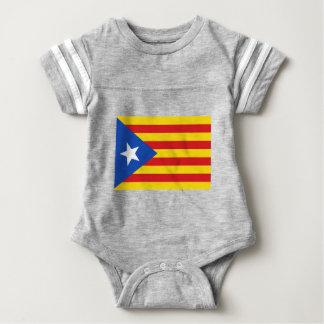 Body Para Bebê Bandeira de Catalonia