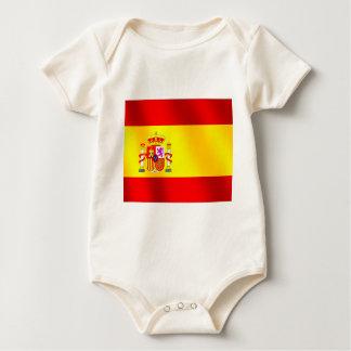 Body Para Bebê Bandeira espanhola de presentes da espanha para