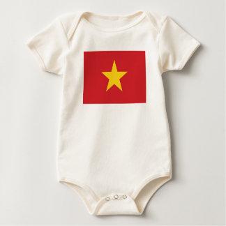 Body Para Bebê Bandeira vietnamiana