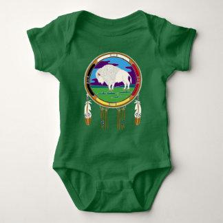 Body Para Bebê Bodysuit branco do bebê do nativo americano do