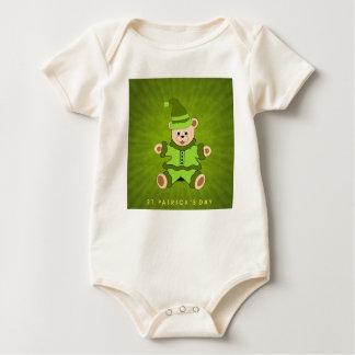Body Para Bebê Bodysuit do bebê do dia de St Patrick do urso de