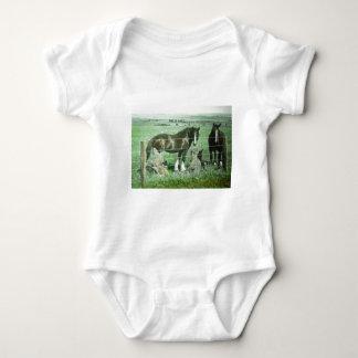 Body Para Bebê Cavalos da corrediça de lanterna mágica