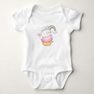 Body Para Bebê Coelho do anjo que monta um Bodysuit do bebê dos