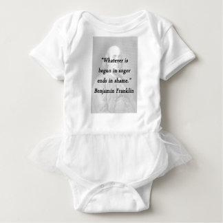 Body Para Bebê Começado na raiva - Benjamin Franklin