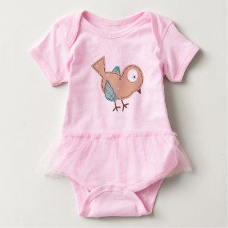Body para Bebê, Cor-de-rosa e Passarinho Body Para Bebê