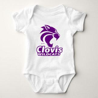 Body Para Bebê Creeper da criança dos Wildcats de Clovis