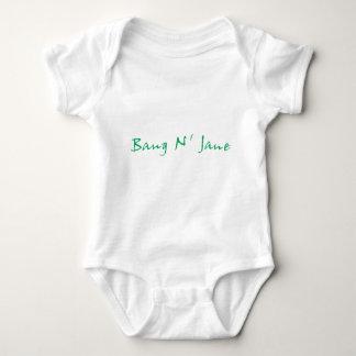 Body Para Bebê Engrenagem do logotipo de N Jane do golpe