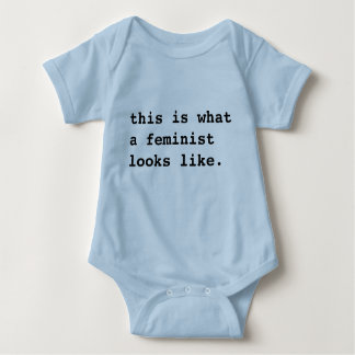 Body Para Bebê Este é o que uma feminista (bebê) olha como