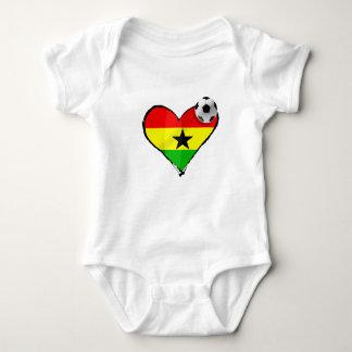 Body Para Bebê Eu amo as estrelas pretas de Ghana - presentes de