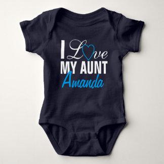 Body Para Bebê Eu amo minha Tia- tia Nome. Feito-à-medida