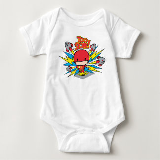 Body Para Bebê Flash de Chibi que Outrunning Rockets