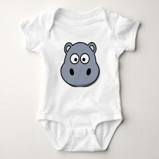 Body Para Bebê Hipopótamo bonito