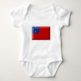 Body Para Bebê Jóia da bandeira de Samoa