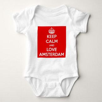 Body Para Bebê Mantenha a calma e ame Amsterdão