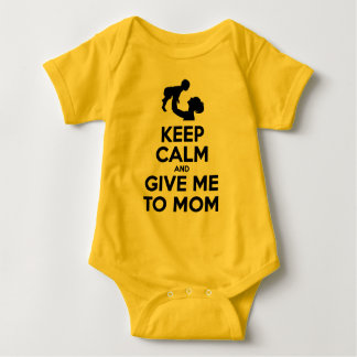 Body Para Bebê Mantenha a calma e dê-me à mamã