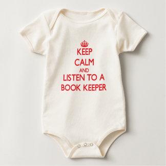 Body Para Bebê Mantenha a calma e escute um depositário de livro