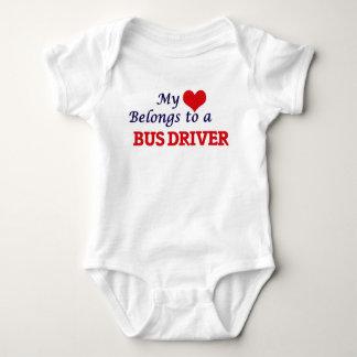 Body Para Bebê Meu coração pertence a um condutor de autocarro