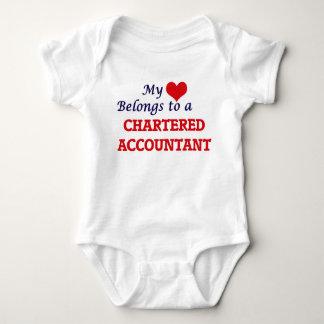 Body Para Bebê Meu coração pertence a um contador fretado