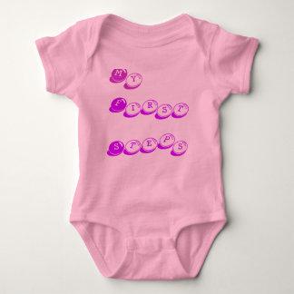 Body Para Bebê Meu, primeiras, etapas