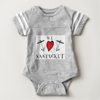 Body Para Bebê nós amamos o nantucket