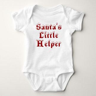 Body Para Bebê O ajudante pequeno do papai noel - vermelho